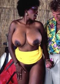 Ebony vintage boobs big